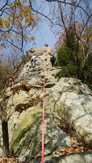 【登山レポート】不動岩クライミング 2016年11月26日