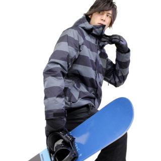 VAXPOT スノーボードウェア メンズ【おすすめコーディネート】インパクトのある大きなボーダー柄